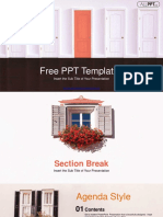 Closed Red Door PowerPoint Templates.pptx
