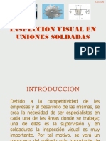 INSPECCION VISUAL EN UNIONES SOLDADAS BASE