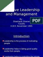 Shashank Effective Leadership and Management