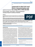 Polyphenolic compounds in date fruit seed (Phoenix dactylifera)