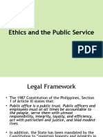 Ethics and the Public Service