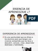 Ideas de experiencia de aprendizaje