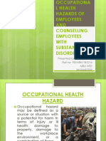 OCCUPATIONAL HEALTH HAZARDS OF EMPLOYEES AND COUNSELLING EMPLOYEES.pptx
