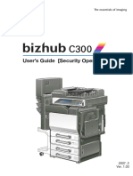 bizhub C300 Security Operations User Guide