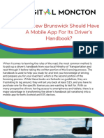 Why New Brunswick Should Have A Mobile App For Its Driver's Handbook?
