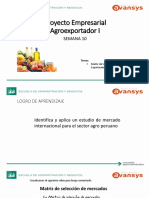 Agroexportación 1 - Semana 10