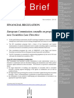 New Securities Law Regulation