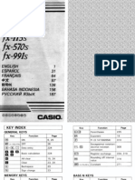 Casio Fx-100s - Calculator Manual English