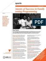 elements of success in family planning programming