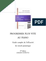 Livre Sur Le Piano - Guide de l'Efficacité Du Travail Pianistique