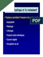 L'érosion hydrique