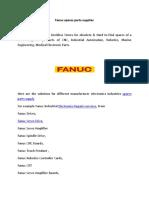 Fanuc Spares Parts Supplier