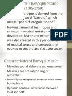 Baroque Period