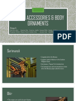 Crafts, accessories & body ornaments