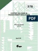 378 Copper Sulphide In Transformer Insulation