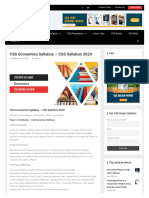 CSS Economics Syllabus - CSS Syllabggus Optional Subjects