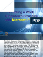 Creating a Work Breakdown Structure with Microsoft Project