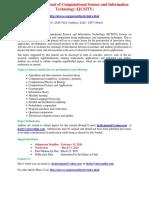 International Journal of Computational Science and Information Technology IJCSITY