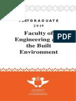 Engineering Postgraduate Yearbook 2019 - UJ