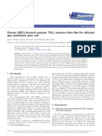 athar Porous (001)-faceted anatase TiO2 nanorice thin film for   efficient
