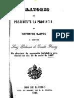 Relatório do Presidente da Província do Espírito Santo 1847 (parte) - instrução pública