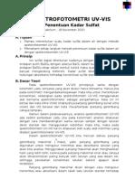 Laporan Spektrofotometri UV-VISi Penetapan Sulfat