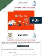CREACION CUENTA OFFICE 365