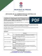 FFBB commission contrôle de gestion