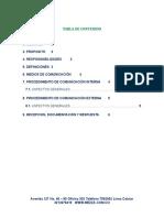 ANEXO 12. PROCEDIMIENTO DE COMUNICACIÓN INTERNA Y EXTERNA