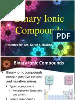 Binary Ionic Compound
