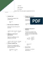 BASIC CAL Limit laws