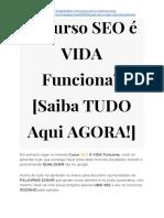 ➝ Curso SEO é VIDA Review [Saiba TUDO Aqui AGORA!]