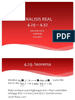 Analisis real Jumriani 4.29 - 4.32
