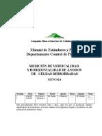 METPC024 Verticalidad y Horizontabilidad de Ánodos