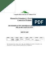 METPCO039 Determinación Densidad Aparente en Pilas