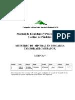 METPC037 Muestreo Descarga Tambores Aglomeradores