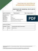 MIN-L3-SAM(CL)-HMEA-xx Curado y aglomerado de mineral en planta piloto