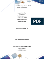 Informe de laboratorios quimica