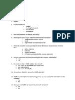 Questionnaire netflix