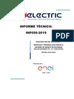INF_056-2019_DESMONTAJE, MONTAJE Y PRUEBAS ELECTRICAS A BANCO DE BATERIAS