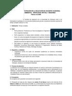 SELECCIÓN DE DOCENTE OCASIONAL INGENIERÍA AMBIENTAL - MODALIDAD VIRTUAL Y REGIONES