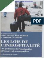 Fassin, Morice, Quiminal - Les lois de l'inhospitalité