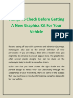 Things to Check Before Getting a New Graphics Kit for Your Vehicle