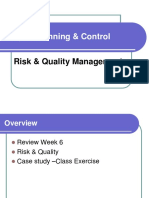 Topic 7-Day 3, Risk and Quality management 1