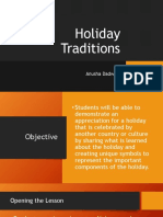 holiday tradition - lesson plan