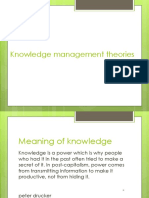 Knowledge management theories