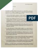 Carta de Socios Del Estudio Gálvez & Dolorier