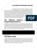 11 Things Python develper should know
