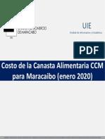 Canasta Alimentaria en Maracaibo, estado Zulia - Enero 2020