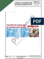 Checklist de inspección de instalaciones de PCI
